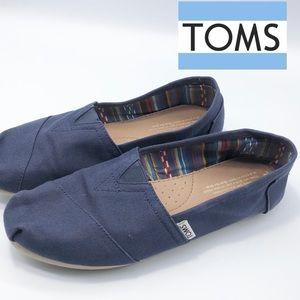 Toms Navy Blue Slip on Flats Women's 9